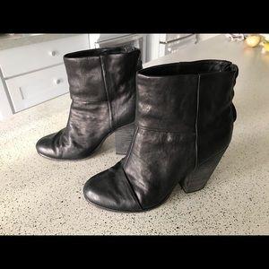 RAG & BONE Leather Booties, 38
